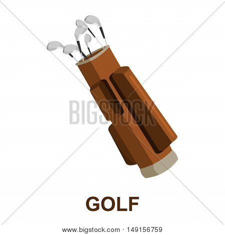 Golf icon cartoon. Single sport icon from the big fitness, healthy, workout collection.