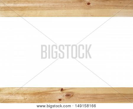 empty old wood frame in white background