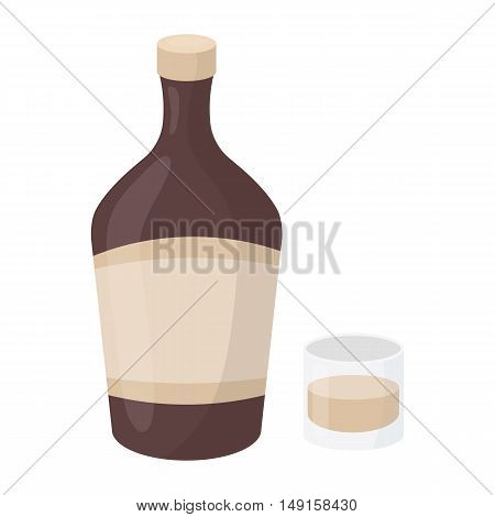 Liqueur icon in cartoon style isolated on white background. Alcohol symbol vector illustration.