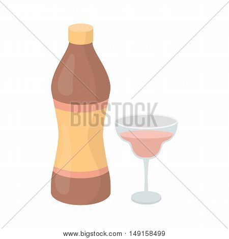 Vermouth icon in cartoon style isolated on white background. Alcohol symbol vector illustration.