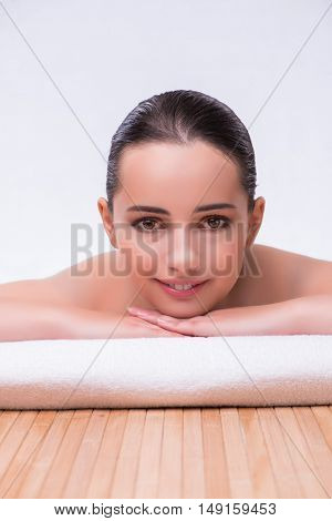 Woman in spa health concept
