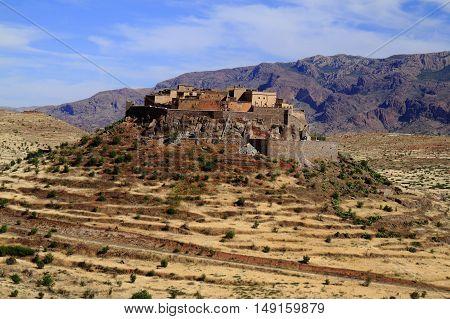Kasbah Tizourgane in Anti Atlas Mountains Morocco