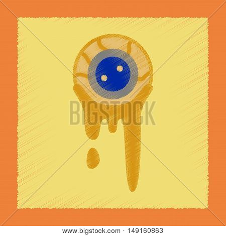 flat shading style icon of halloween zombie eyes