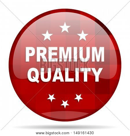 premium quality red round glossy modern design web icon