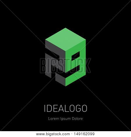 Vector design element logotype or icon with figures 7 and 9