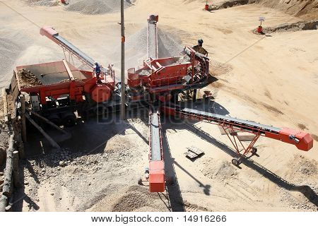 Crusher Plant On Stone Quarry