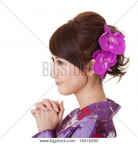 Japaneses Woman Praying