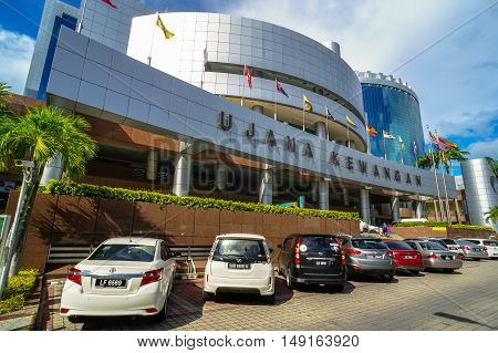 Labuan,Malaysia-Sept 23,2016:Labuan Financial Park Complex of Labuan,Malaysia.The complex is self contained with areas for working,living,shopping,leisure & convention,include Alpha & Beta Park Tower.