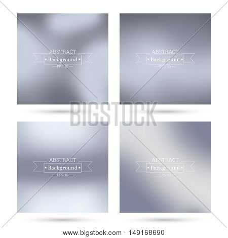 Set of vector colorful abstract backgrounds blurred. For mobile app, book cover, booklet, background, poster,  backdrop, wallpaper, annual reports delicate subtle gentle