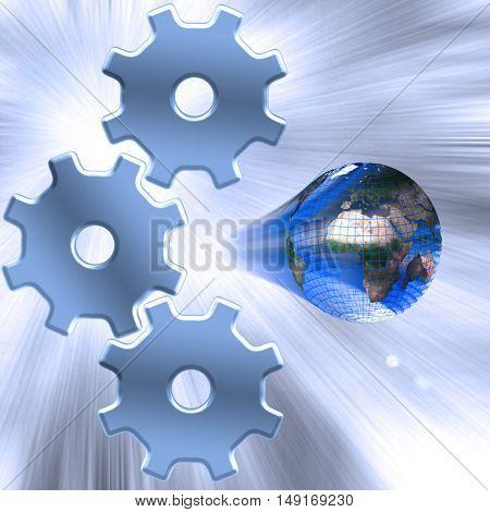 Internet Gears 3D Render