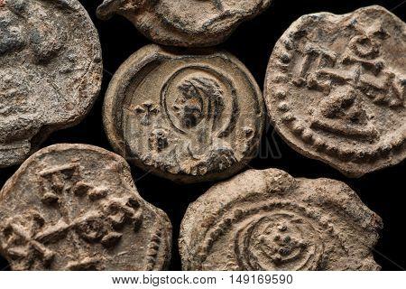 Close-up Shot Of Antique Post Seals