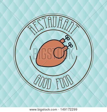 good food chicken restaurant meal vector illustration eps 10