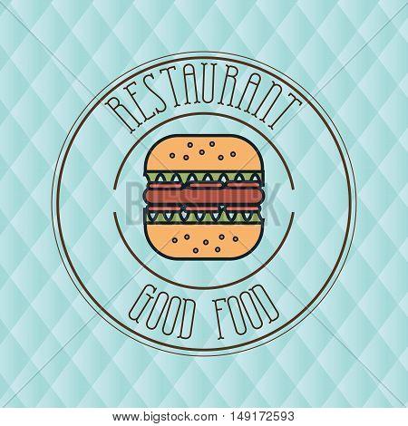 burger bread fast food vector illustration eps 10