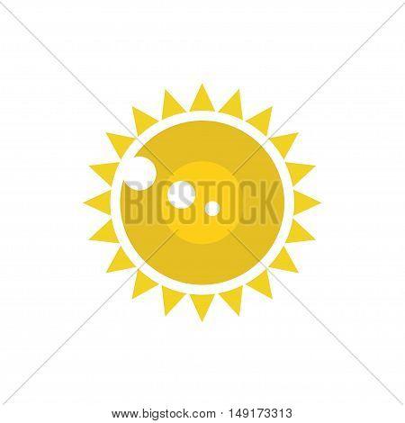 Sun Vector isolated,  Sun flat logo summer icon design