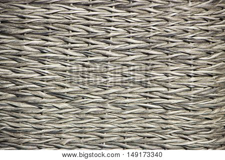 Texture Of Wicker Furniture Close Up