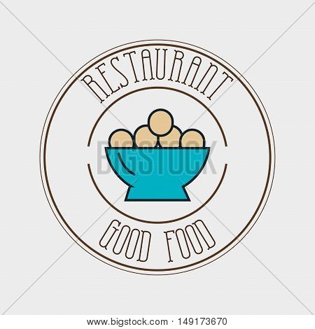 eggs plate food vector illustration eps 10