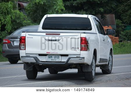 CHIANGMAI THAILAND -AUGUST 18 2016: Private Pickup car Toyota Hilux Revo. Photo at road no 121 about 8 km from downtown Chiangmai thailand.