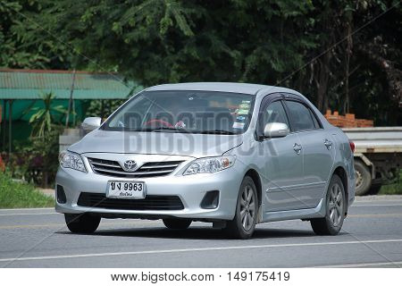 CHIANGMAI THAILAND -AUGUST 18 2016: Private car Toyota Corolla Altis. Photo at road no 121 about 8 km from downtown Chiangmai thailand.