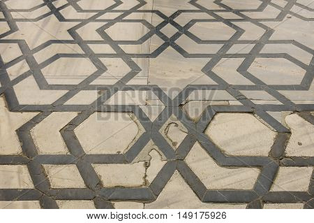 Floor Of The Blue Mosque. Istanbul, Turkey.