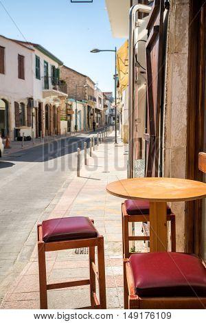 Charming street in Limassol Republic of Cyprus