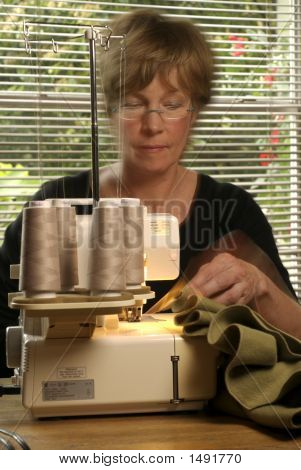 Baby Boomer Sewing At Home