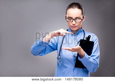 Young doctor in medical concept