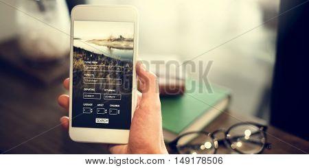Booking Flight Travel Website Concept