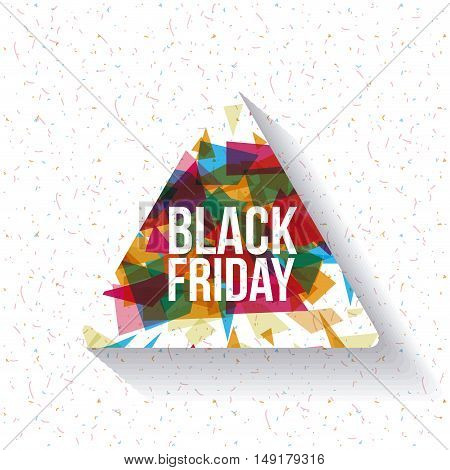Black Friday icon. ecommerce sale decoration and advertising theme. Colorful design. Vector illustration