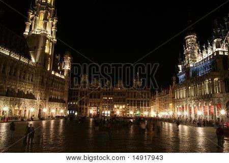 The Grand Place At Night, Brussels