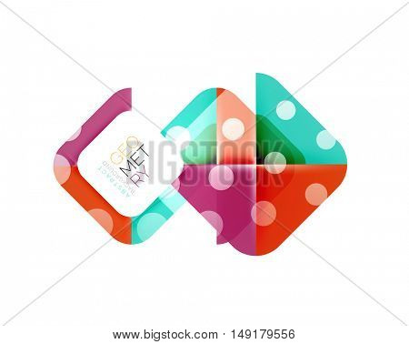 Colorful squares, geometric elements, abstract background template