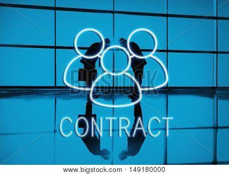 Contract Team Leadership Partnership Concept