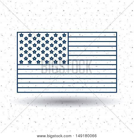 Usa flag icon. Patriotism nation and government theme. Silhouette and isolated design. Vector illustration