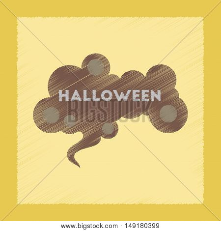 flat shading style icon of halloween sign