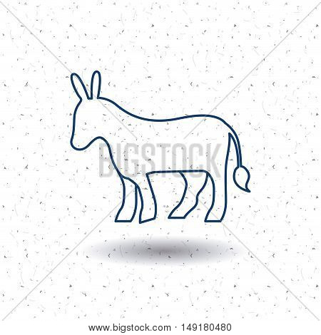 Donkey icon. Animal and nature theme. Silhouette and isolated design. Vector illustration