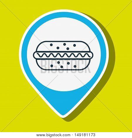 hot dog fast food vector illustration eps 10