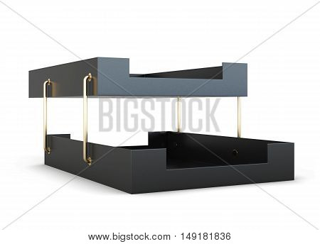 Paper Tray Isolated On White Background. 3D Rendering