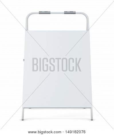 Sidewalk Signboard Isolated On White Background. 3D Rendering