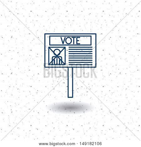 Paper card icon. Vote election nation and government theme. Silhouette and isolated design. Vector illustration