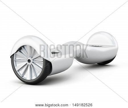Urban Scooter On White Background. 3D Rendering
