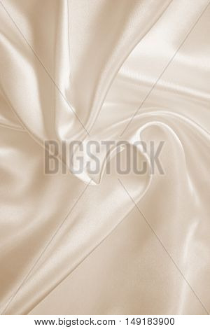 Smooth Elegant Golden Silk Or Satin As Background. In Sepia Toned. Retro Style