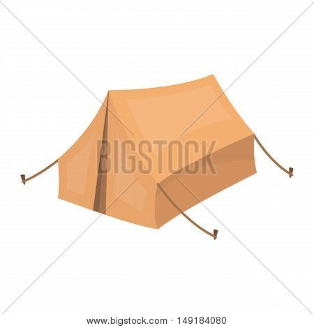 Tent icon in cartoon style isolated on white background. Hunting symbol vector illustration.