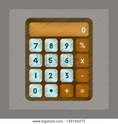 flat shading style icon of electronic calculator