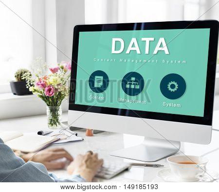 Data Website Development Network Concept