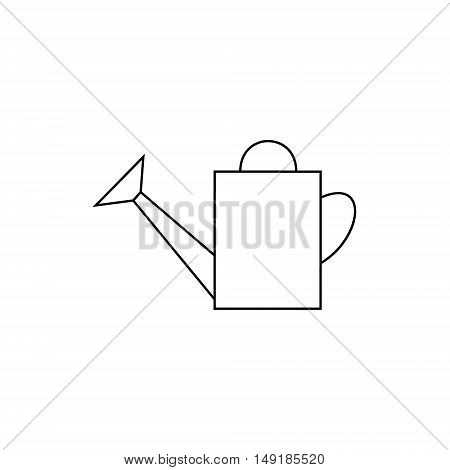 outline icon watering-can. watering can to water plants. garden tools watering-pot. watering can vector illustration. watering pot