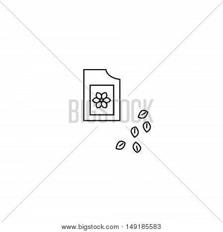 Image of packaging seeds. Outline style. Packaging seeds icon illustration.