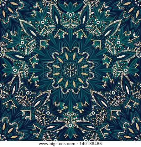 Seamless Tribal Mandala Pattern For Printing On Fabric Or Paper.