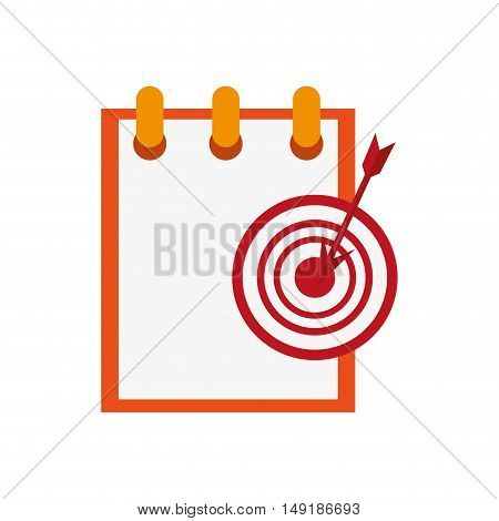 flat design notepad and bullseye  icon vector illustration