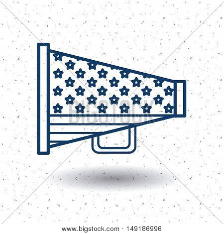 Megaphone icon. Vote election nation and government theme. Silhouette and isolated design. Vector illustration