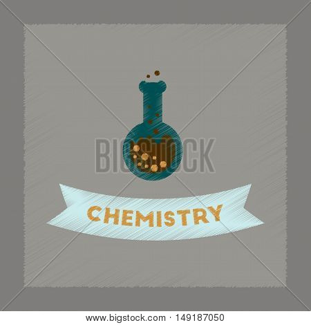 flat shading style icon of chemistry lesson