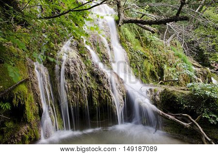 One of the Krushuna waterfalls, Balkan mountain, Bulgaria